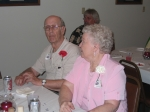 Guests of Honor: Ed and Ruth Larson of Des Moines.  Ruth was High School Secretary.