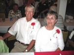 Guests of Honor: Dick and Ann Lowery of Nora Springs, Iowa.  Dick was boys' P.E. teacher and Coach.