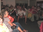 Audience.  Sheryl (Erickson) Fischer, closest to camera, Doneta Fleenor, Cathy Kappos, Todd and Sandy (Sharpnack) Flemmo