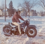Dan Billings. Feb '65......Trust me, I wouldn't do that now.  Some notable homes are in the background.