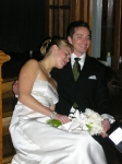 Jane Larson Fischer.  Daughter Sarah and her husband Eric Roane on their wedding day, November 18, 2006