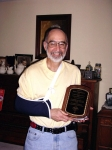 Dan O'Donnell.  This picture is of me receiving a plaque for chairing the Oklahoma American Chemical Society meeting.
