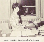 Patty Houge, superintendent's secretary