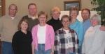 Reunion committee had fun luncheon together at the Ballard Golf and Country Club restaurant on January 20. Back row: Ken