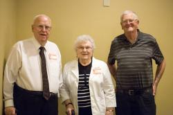 Guests of Honor.  Faculty members Tom Leimer, Ruth Larson, and Don Brendeland